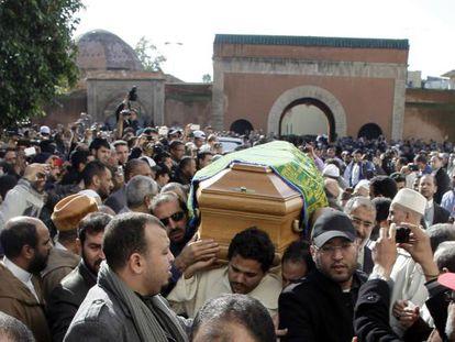 Imágenes del funeral de Abdesalam Yassin.