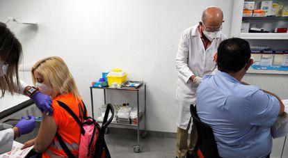 Vacunación contra la covid en empresas de la Comunitat Valenciana.