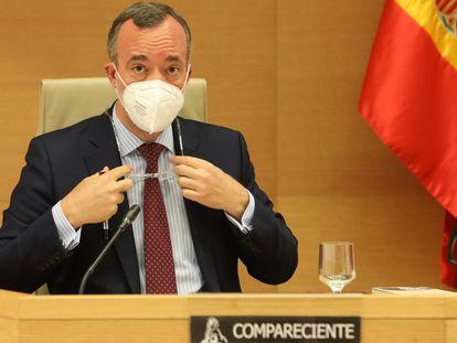 El exsecretario de Estado de Seguridad, Francisco Martínez Vázquez, comparece en el Congreso, en junio.