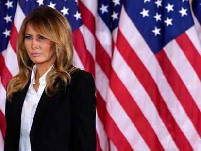 Melania Trump, durante el discurso de su marido, Donald Trump, la noche del 4 de noviembre, tras las elecciones presidenciales de 2020.