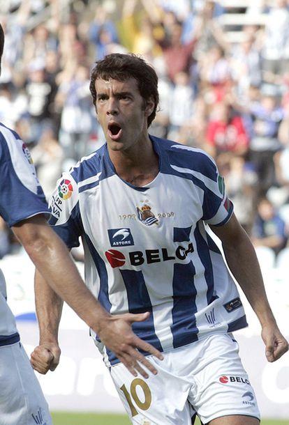 Xabi Prieto celebrando su gol.