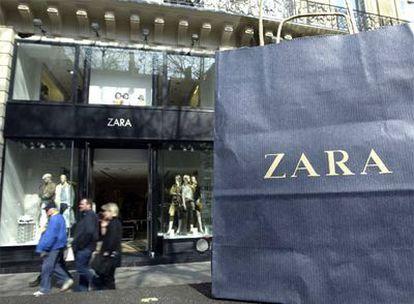 Una de las tiendas de la cadena Zara en París.