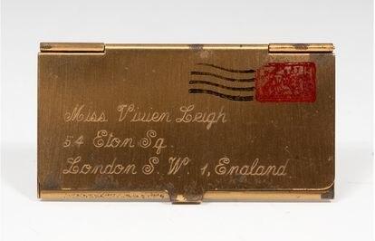 El portasellos de la actriz, otra de las piezas que se subastará el 26 de mayo.