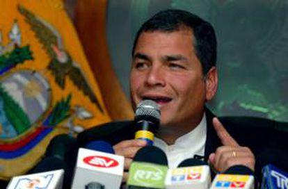 """El presidente ecuatoriano, Rafael Correa, anunció el pasado jueves su decisión de poner fin al proyecto ambientalista ante la desidia de la comunidad internacional para hacerse """"corresponsable"""" de la iniciativa que buscaba dejar sin explotar los campos petrolíferos Ishpingo, Tambococha y Tiputini, situados en el Yasuní. EFE/Archivo"""