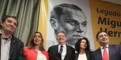 Homenaje a Miguel Hernández en el Círculo de Bellas Artes.