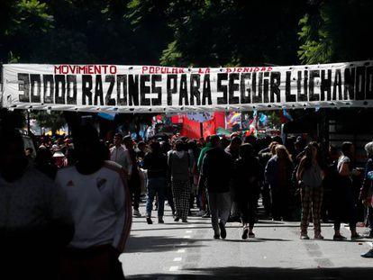 Marcha en Buenos Aires el 24 de marzo, a 43 años del golpe de Estado.