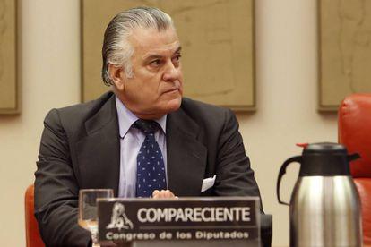 Luis Bárcenas, en noviembre de 2017, en el Congreso durante su comparecencia en la comisión de investigación.