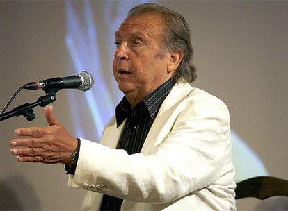 Juan Peña, el Lebrijano, en la presentación del disco 'Cuando Lebrijano canta, se moja el agua', en el Instituto Cervantes de Madrid