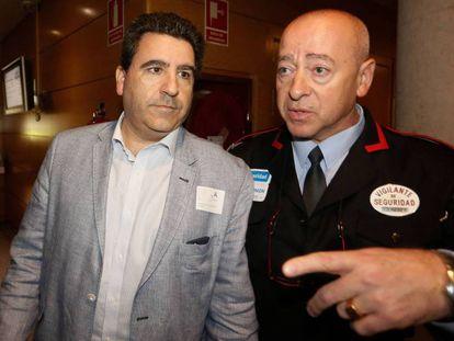 David Marjaliza al llegar a la Comisión de Corrupción de la Asamblea de Madrid