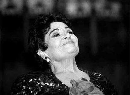 La soprano Victoria de los Ángeles, en una foto de 1998.