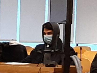 Alberto Sánchez, el 'caníbal de Ventas', el pasado 20 de abril, durante la primera sesión del juicio en su contra.