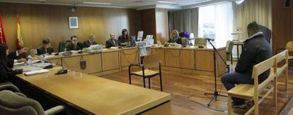 El rumano Ioan Clamparu, en la Audiencia Provincial de Madrid.