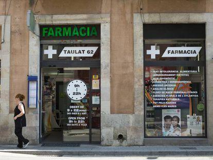 Farmacia situada en el barrio de Poble Nou de Barcelona.