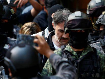 Dámaso López, tras su detención.