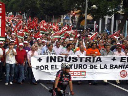 Manifestación en Cádiz en junio para pedir la reindustrialización de la provincia.