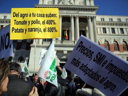 Protesta de agricultores en Madrid. Vídeo: Atlas