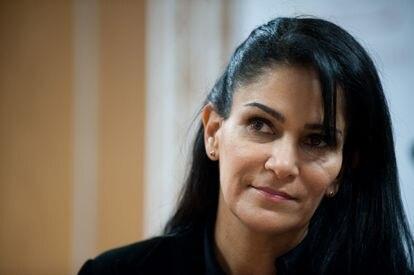 Lydia Cacho, en una conferencia de prensa en 2011.