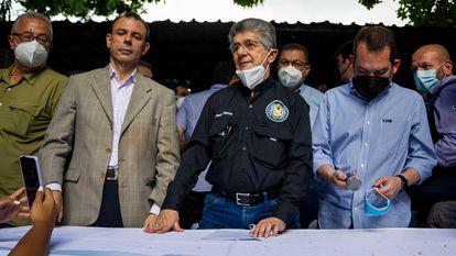 Henry Ramos Allup, líder del partido socialdemócrata Acción Democrática, este miércoles en Caracas.