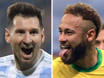 Messi y Neymar disputará a final de la Copa América 2021 con Argentina y Brasil