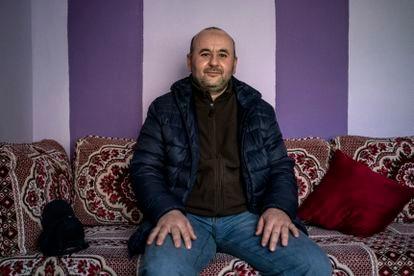 Rachid Bouikov, en su casa de Navalcarnero.