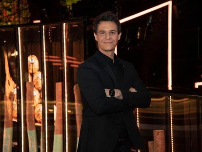 El presentador Christian Gálvez, en el acto 'Juntos brillamos más' de Ferrero Rocher, en Madrid el miércoles.