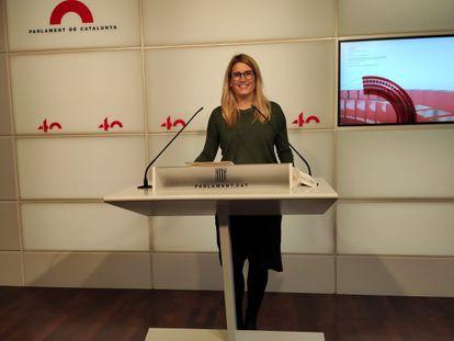 La líder de Junts per Catalunya en el Ayuntamiento de Barcelona, Elsa Artadi.