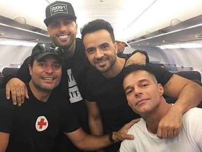 Chayanne, Nicky Jam, Luis Fonsi y Ricky Martin.