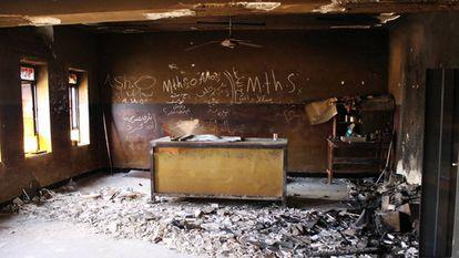 Una escuela destruida en Irak por un bombardeo.