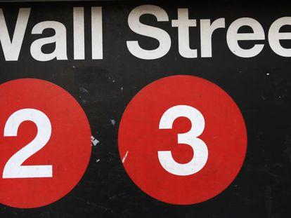 Parada de metro en Wall Street