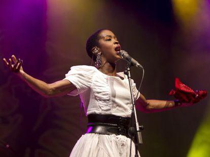 Lauryn Hill anoche en el festival Rototom.