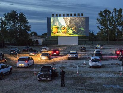 El Drive-in de Dénia, el 14 de mayo del pasado año, en la primera sesión de cine tras el confinamiento.