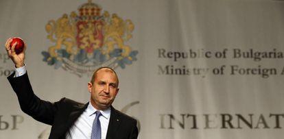Rumen Radev, presidente electo de Bulgaria, en Sofia.