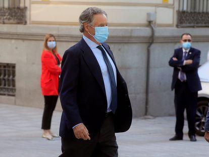 El empresario Ignacio López del Hierro, marido de María Dolores de Cospedal, este miércoles en la Audiencia Nacional.