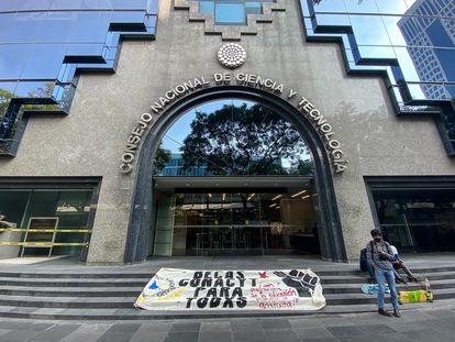 Las oficinas del Consejo Nacional de Ciencia y Tecnología, en Ciudad de México.