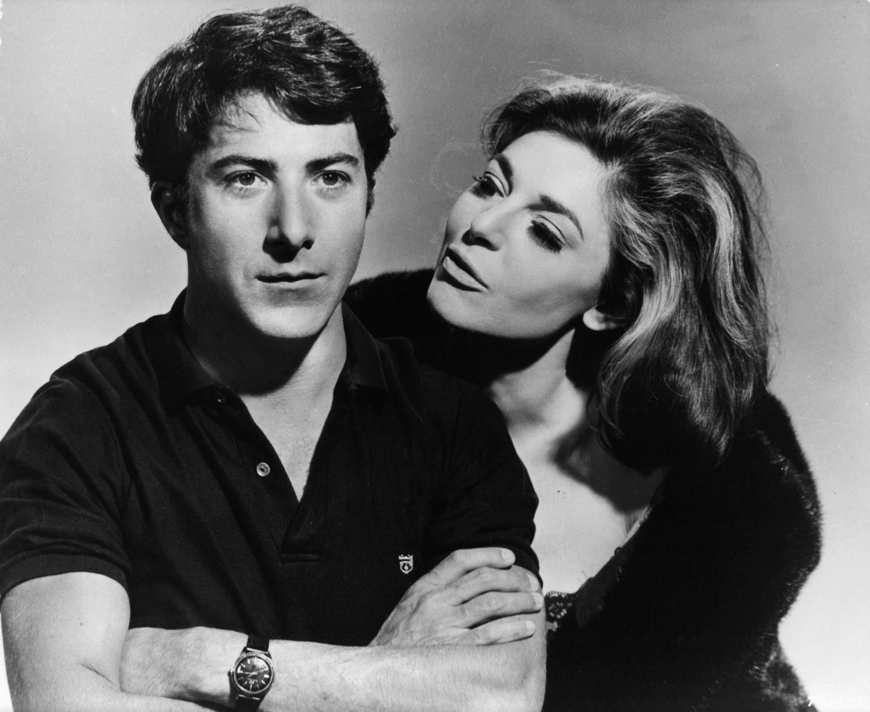 Dustin Hoffman y Anne Bancroft en una imagen destinada a publicitar 'El Graduado'.