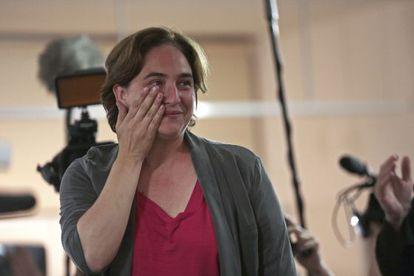 Ada Colau tras conocer los resultados de estas elecciones.