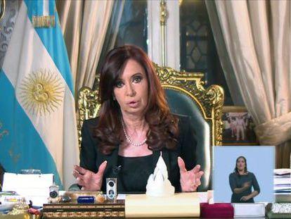 La presidenta Cristina Fernández, el 2 de abril pasado.