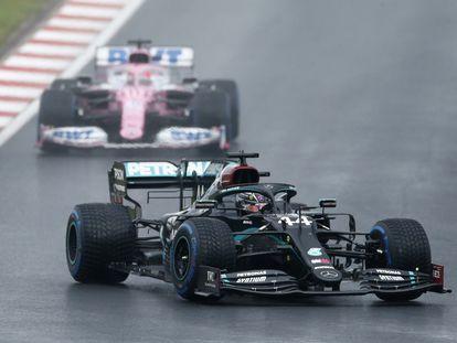 Lewis Hamilton (Mercedes), durante la clasificación del Gran Premio de Turquía 2020 de Fórmula 1.