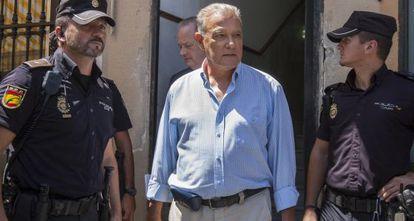 Ángel Ojeda, el pasado día 6 a su salida de los juzgados en Cádiz.