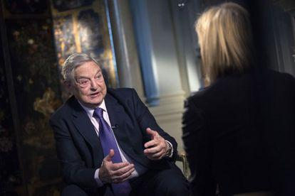 George Soros, durante una reciente entrevista.