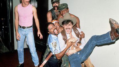 El grupo Village People, fotografiado en 1979 en Nueva York.