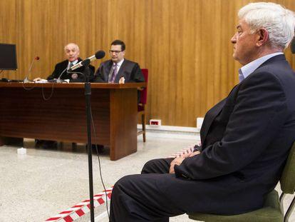 El exalcalde Nené Barral, en mayo de 2016 en el juicio celebrado en Pontevedra por fraude fiscal.