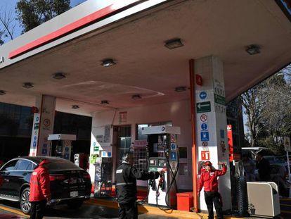 La estación de servicio inaugurada este martes en la Ciudad de México.