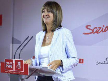 Idoia Mendia tras ser elegida secretaria general.