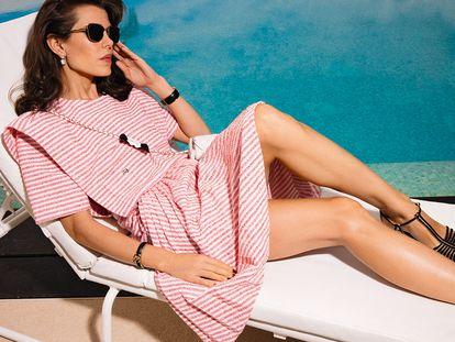 Carlota Casiraghi, retratada para la campaña de prêt-à-porter primavera-verano 2021 de Chanel.