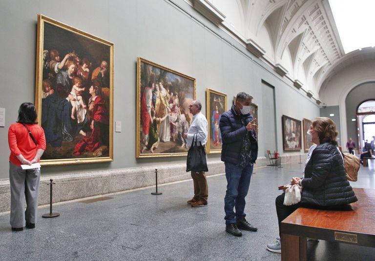 Galería Central del Museo Nacional del Prado, el último día de su apertura, el pasado 11 de marzo.