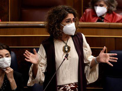 María Jesús Montero, ministra de Hacienda, el miércoles en el Congreso de los Diputados.
