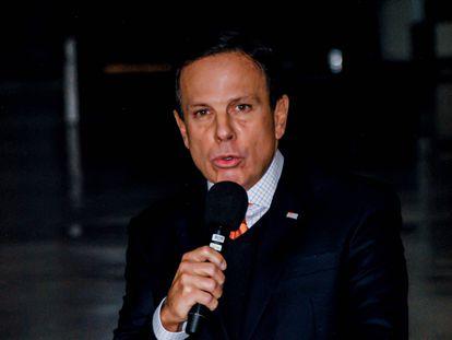 El gobernador de São Paulo, João Doria, comparece el 8 de mayo.
