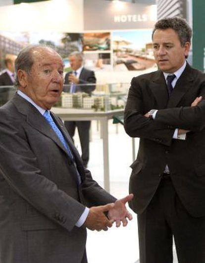Josep Lluís Núñez, a la izquierda, y su hijo del mismo nombre.