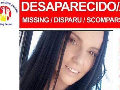 Imagen del cartel que alerta de la desaparición de Dana Leonte.